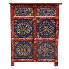 credenza tibetana credenza tibetana base rossa con cassetti 76x96x40 codice ma 3102