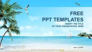 beach themed powerpoint templates beach scene holidays powerpoint