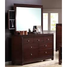 Size Drawer Dressers  Chests Shop The Best Deals For Sep - Lorrand 5 piece cherry finish bedroom set