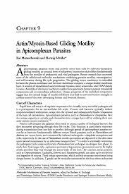 Properties Of Light Worksheet Actin Myosin Based Gliding Motility In Apicomplexan Parasites