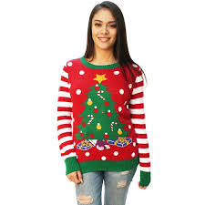 led light for christmas walmart ugly christmas sweater women s christmas tree led light up sweater