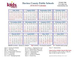 dcps 2018 2019 calendar now available daviess county schools