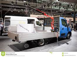 opel movano 2017 new opel movano with crane editorial stock photo image 45024448