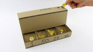 diy coin sorting machine from cardboard youtube