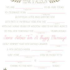Wedding Mad Lib Template Wedding Mad Libs Sweet Floral Printable Template