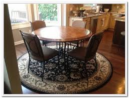 best size rug for under kitchen table choosing rug for kitchen