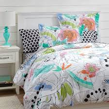 Pottery Barn Tropical Bedding Painted Palm Duvet Cover Sham Pbteen