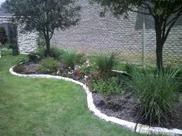 pebbles in garden stone landscape edging borders landscape edging