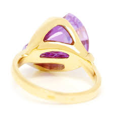large amethyst diamond white gold right hand rings u0026 cocktail rings once upon a diamond tagged