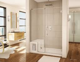Bathroom Shower Base Acrylic Shower Base And Pivoting Door System Transitional