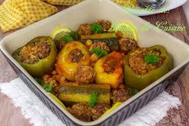 plat cuisiné au four dolma legumes farcis a la viande hachee au four amour de cuisine