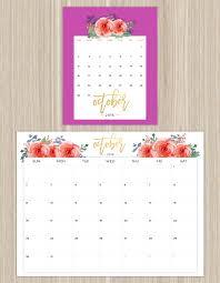 Small Desktop Calendar Free Printable Calendars For A More Floral 2018 Printable Calendars