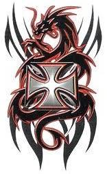 tattoo cross dragon dragon designs