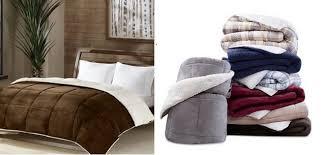 macys premier comfort reversible micro velvet and sherpa down
