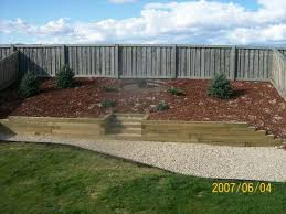Retaining Wall Ideas For Sloped Backyard Landscape Sloped Backyard Pictures This Slope Was Covered With