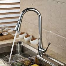Pull Out Kitchen Sink Faucet Spray HotCold Tap Brass Chrome - Brass kitchen sink