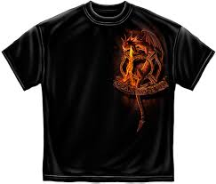 North Bay Deputy Fire Chief by Firefighters Fire Department Fear No Evil Black Short Sleeve T