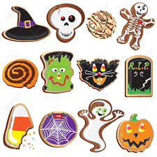 cute halloween cookies clipart elements and icons royalty free