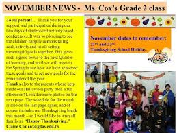 gr 2 news co october 2007 december news ms cox s grade