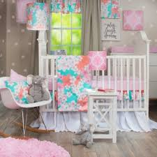 Pink And Aqua Crib Bedding Buy Pink And Orange Crib Bedding From Bed Bath U0026 Beyond