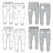 men u0027s jogger pants flat templates jogger pants jogging bottoms