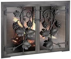 metal glass doors fireplace doors design specialties blacksmith custom made glass