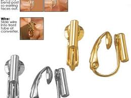 how to convert clip on earrings to pierced 51 earring converter earring converters pierced to clip on 4 pkg