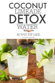 detox water recipe coconut mint limeade