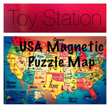 50 States Map With Capitals by U S A United States Magnetic Puzzle Map Educational Toy States