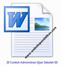 format absensi ujian 20 contoh administrasi ujian sekolah us sd tahun 2018 website