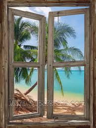 tropical window self adhesive wall mural love this and how it