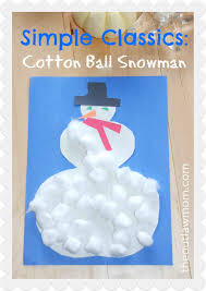 simple classics winter activity cotton ball snowman the outlaw