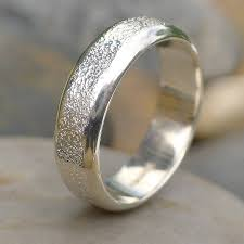 mens silver rings men s silver ring with concrete texture by lilia nash jewellery