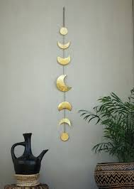 moon phases wall hanging brass wall decor moon crescent moon