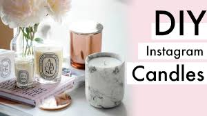 diy marble candle diptyque and gold candle