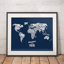 adventure is out there world word map travel quote map home