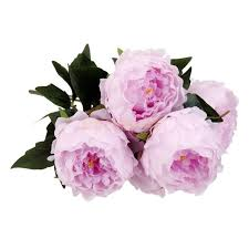 Wedding Garden Decor Artificial 5 Heads Peony Silk Flower Bouquet Home Wedding Garden