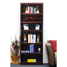 Dark Cherry Bookshelf Alaterre Furniture Mission Cherry Open Bookcase Amia1460 The