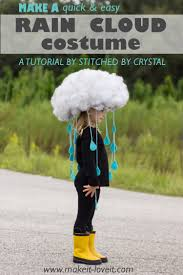 make a quick u0026 easy rain cloud costume for all ages via www