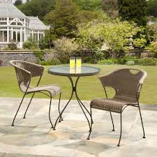 Tesco Bistro Chairs Buy Suntime Wadebridge Rattan Bistro Set From Our Metal Garden