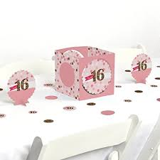 sweet 16 table decorations amazon com sweet 16 birthday party centerpiece table decoration