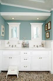 nautical bathroom ideas mirror above double round wall mount sinks