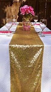 Sequin Table Runner Wholesale Amazon Com Sequin Table Runners Gold Amazlinen 12 By 108 Inch