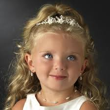 children s hair accessories flowergirl ivory rum porcelain tiara hpc 9323