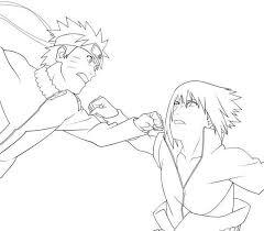 sasuke naruto coloring pages cartoon coloring pages