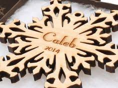 personalized ornament wood snowflake ornament custom