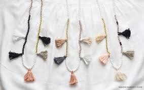 gold color necklace images Diy white gold color block tassel necklaces made in a day jpg