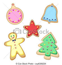eps vector of christmas cookies iced christmas cookies isolated