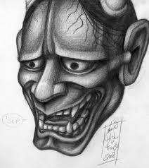 hannya mask tattoo black and grey hannya mask no1 by dertodesking on deviantart