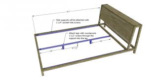 Bed Support Legs Free Diy Furniture Plans To Build A Queen Sized Alpine Bed The